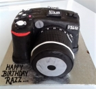 DSLR camera Cake for photographers